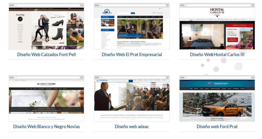 Diseño de páginas web comercios y empresas