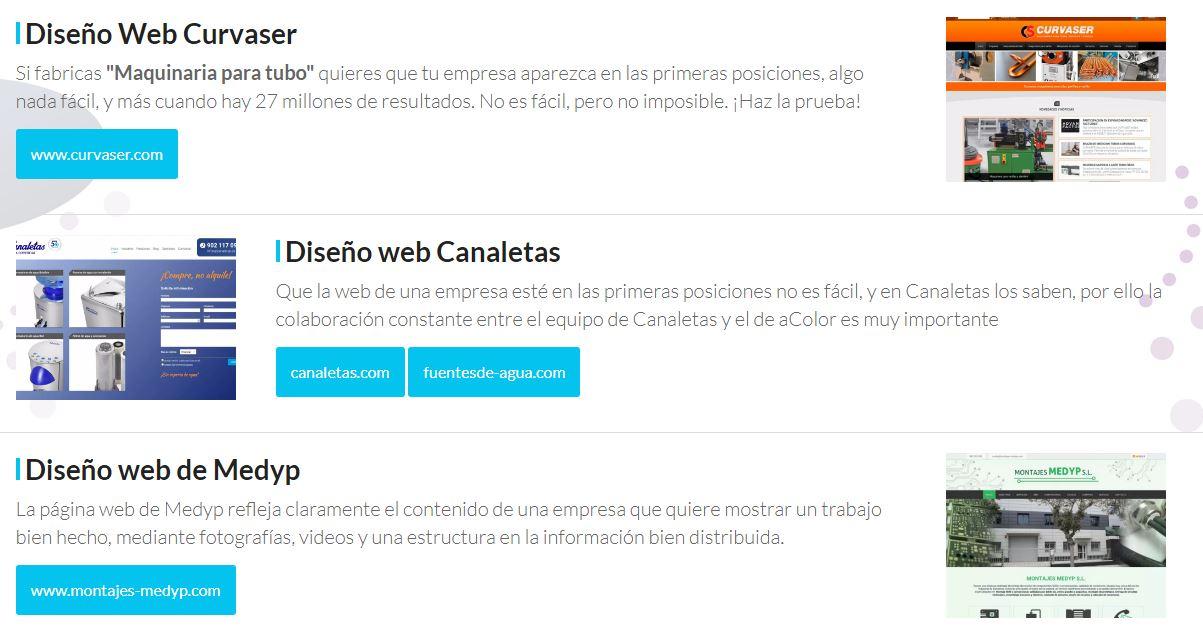 Diseño de páginas web para empresa